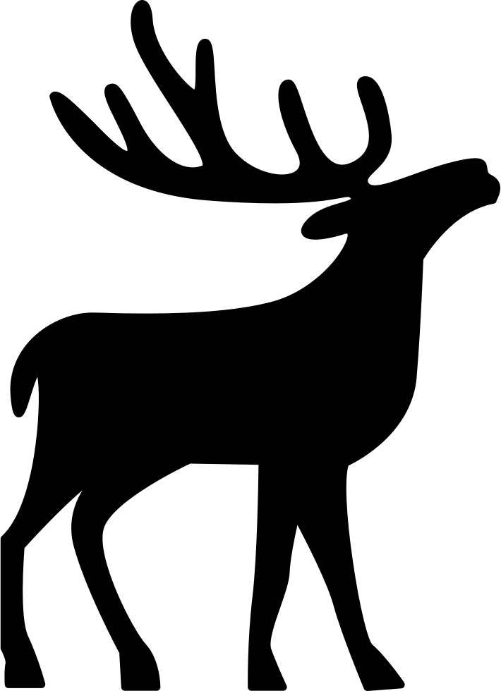 Royal vector deer. Svg png icon free