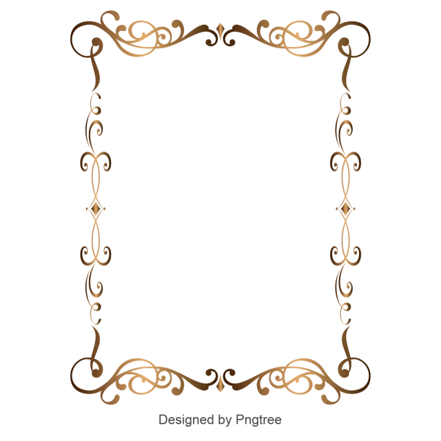 Royal vector frame. Flower shape border golden