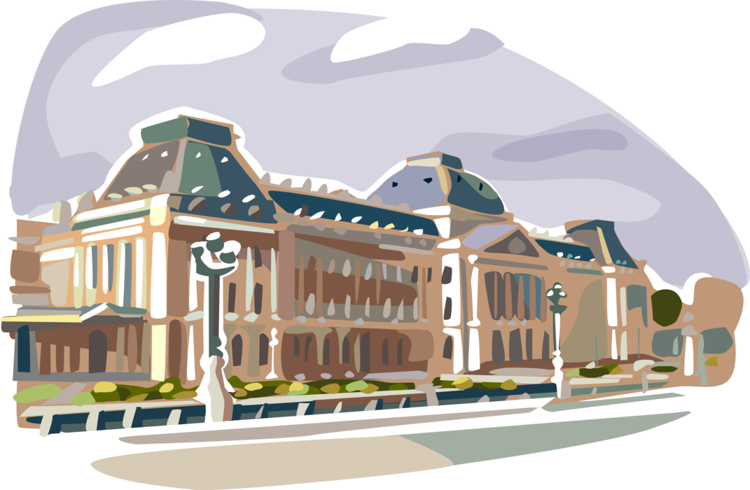 Royal vector king palace. Of brussels image illustration