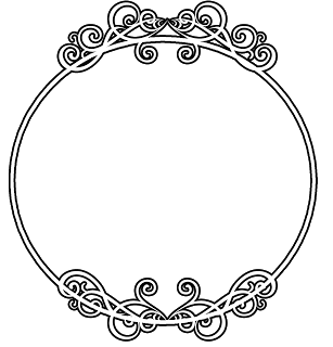 Royal vector round frame. Collection of free borders