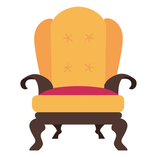 Royal vector sofa. Armchair icon transparent png