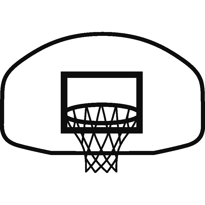 Royalty free clipart basketball. Hoop black and white