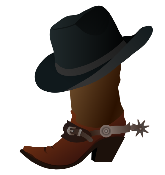 boots svg drawn cowboy