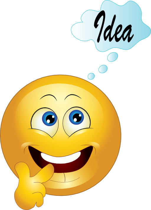Royalty free clipart thinking. Yellow smiley emoticon best