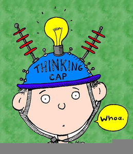 Royalty free clipart thinking. Cap images at clker