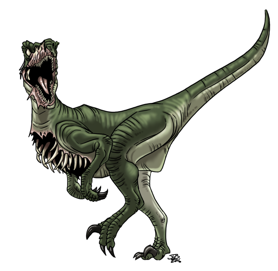 Rpg drawing raptor. Dino zombie by prodigyduck