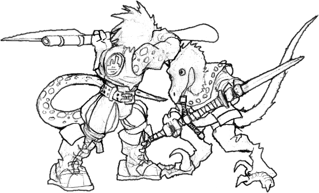 Rpg drawing tandem. Squawk role playing game