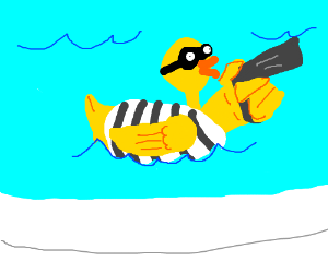 Rubber ducky clipart robber. Duck commits a robbery