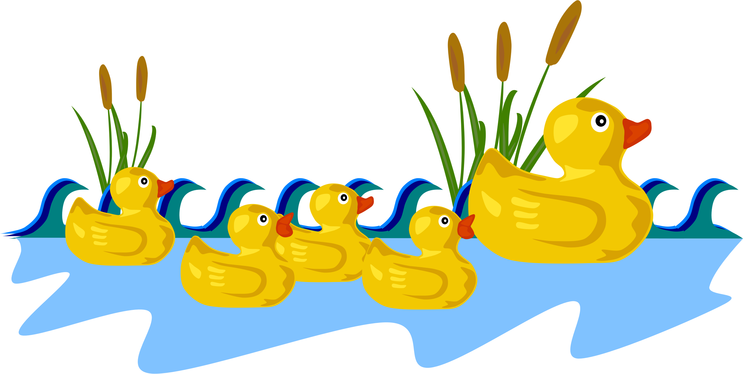 Rubber ducky clipart water clipart. Duck family big image