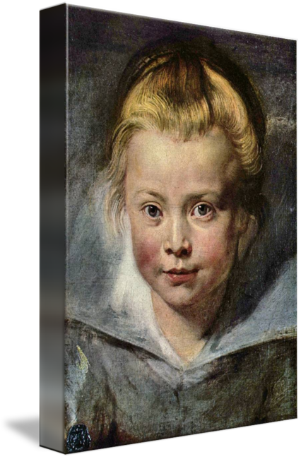Rubens drawing baroque. Portrait of clara serena