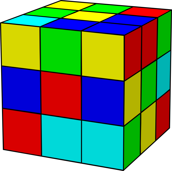 Rubik clipart animated. Cube clip art at