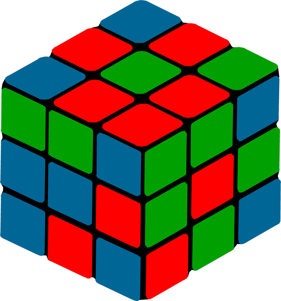 Rubik clipart cube shape. Free stock photo illustration