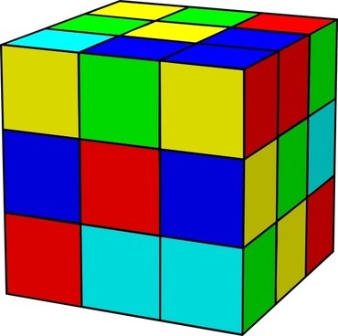 Rubik clipart cube shape. Ai free vector download