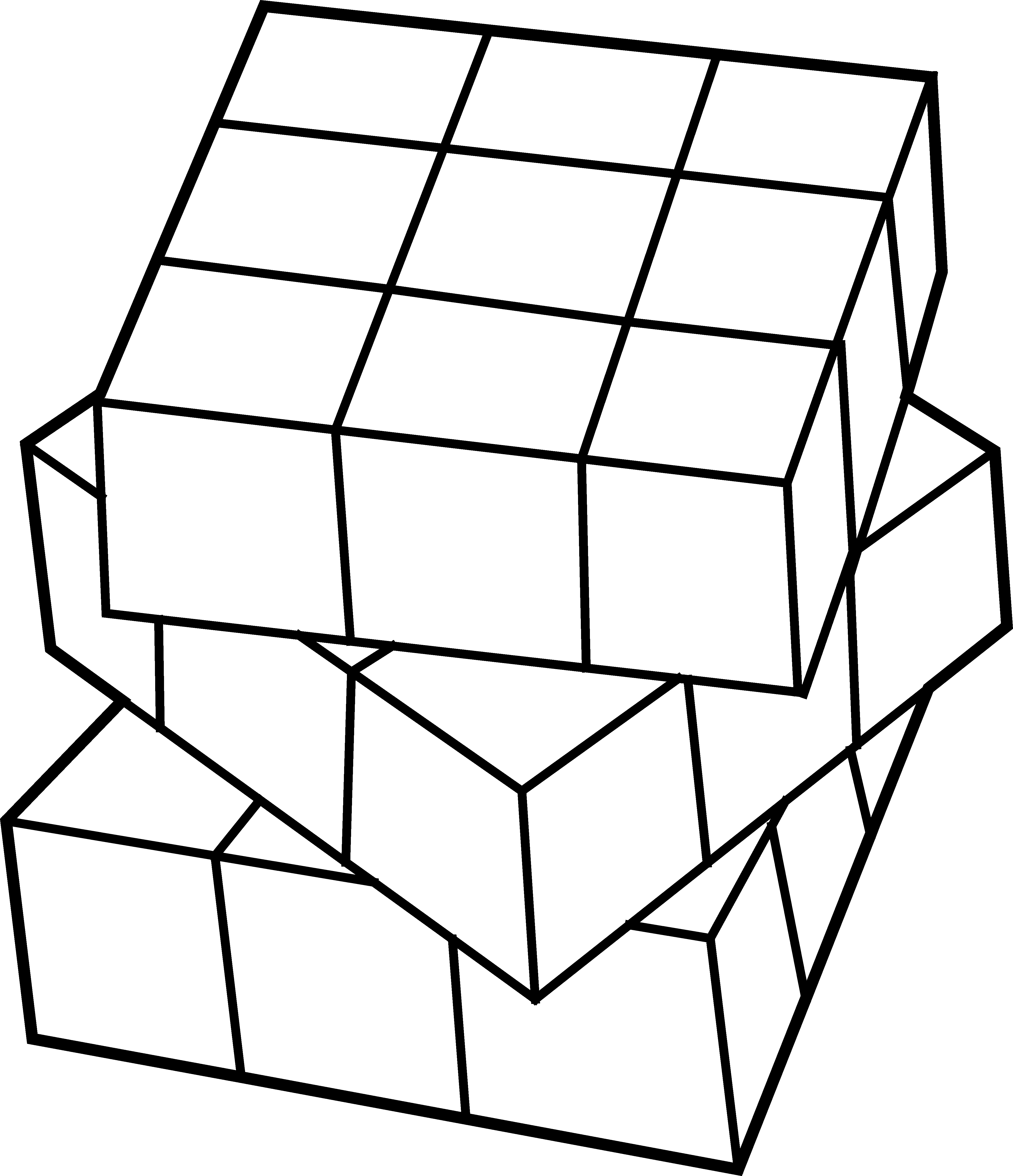 Cubes vector cube outline. Clipart rubix pencil and