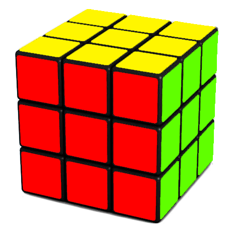 Rubik's cube png. Step turning the corners