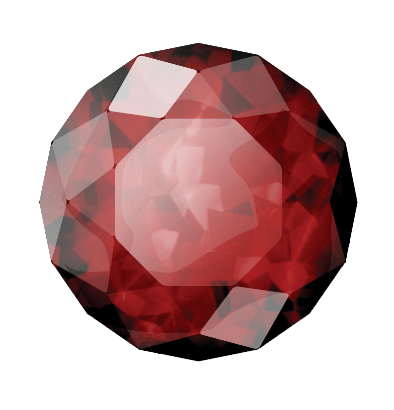 ruby transparent polished