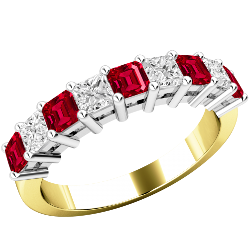 Ruby transparent beautiful. Diamond eternity ring in