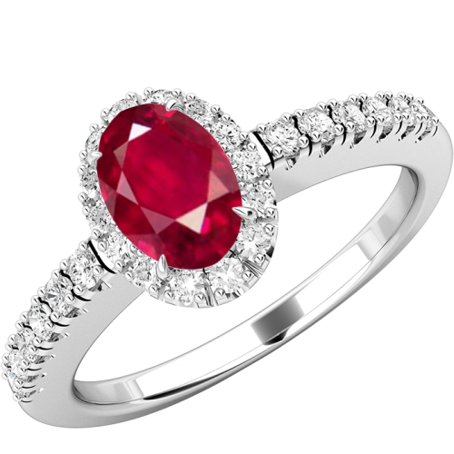 Ruby transparent beautiful. And diamond cluster with