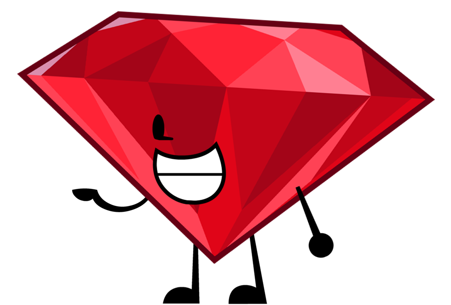 Ruby transparent bfdi. Image pose png object