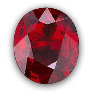 Ruby transparent birthstone. July color is red