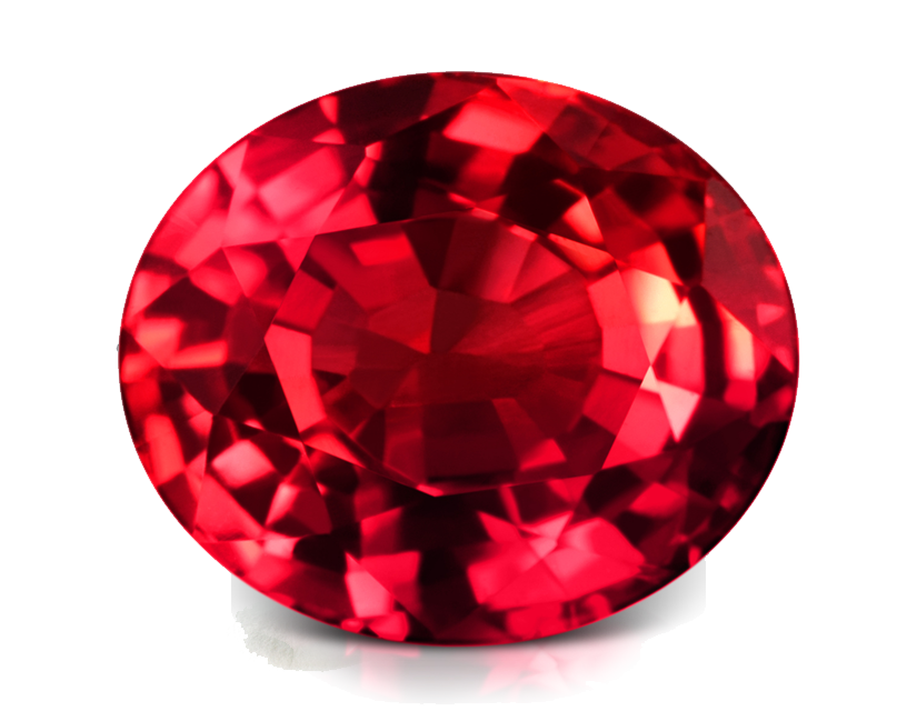 Ruby transparent birthstone