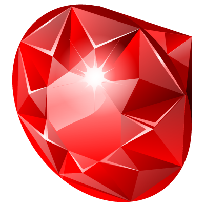 Ruby transparent chromium. Png image with background