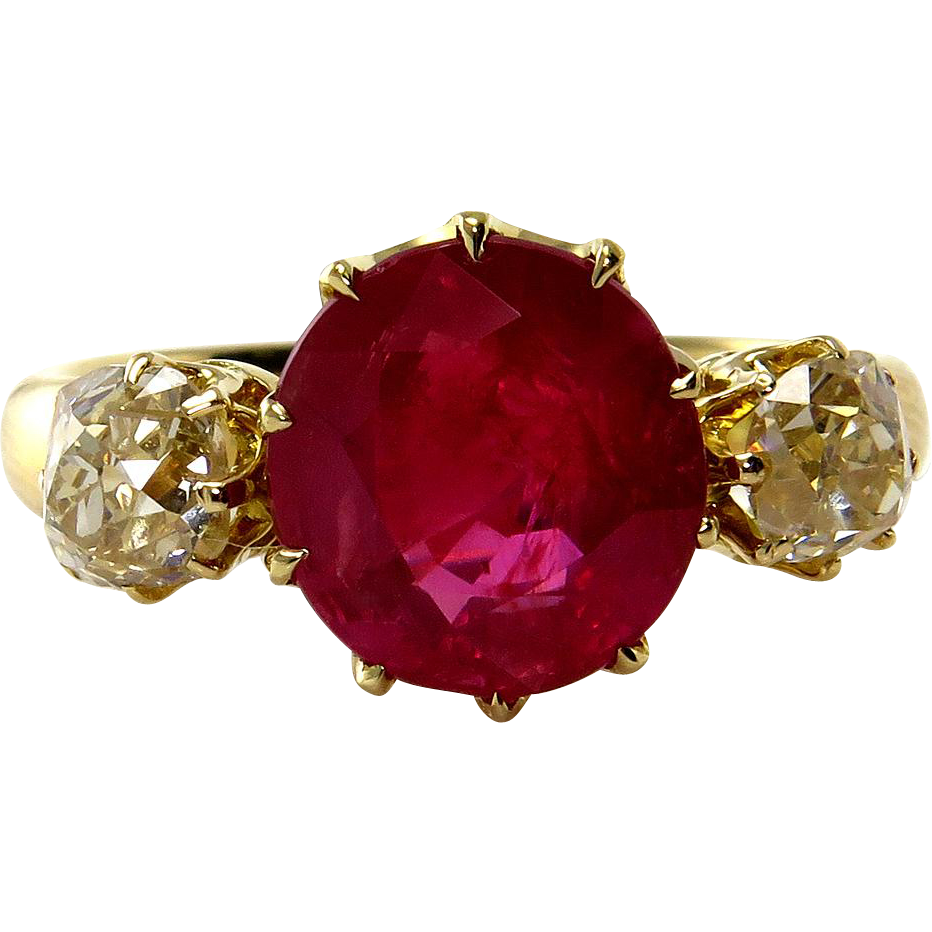 Burma red antique ct. Ruby transparent gia clipart royalty free
