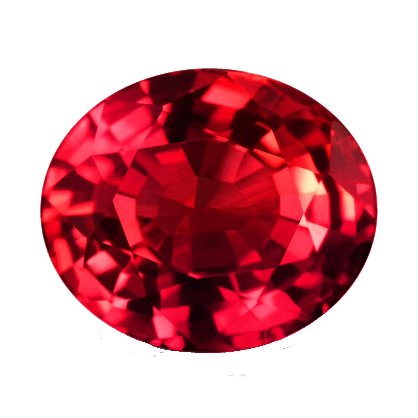 Ruby transparent oval. Stone png images all