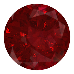 Ruby transparent round. K white gold ring