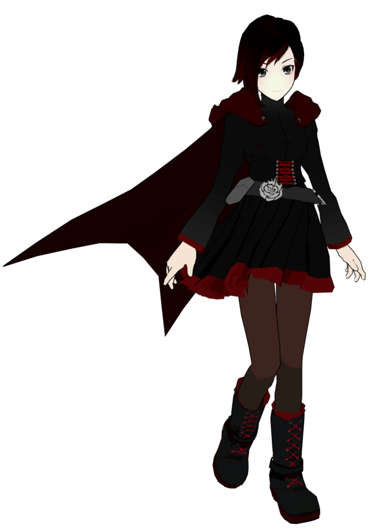 Ruby transparent rwby. Rose wip mmd by
