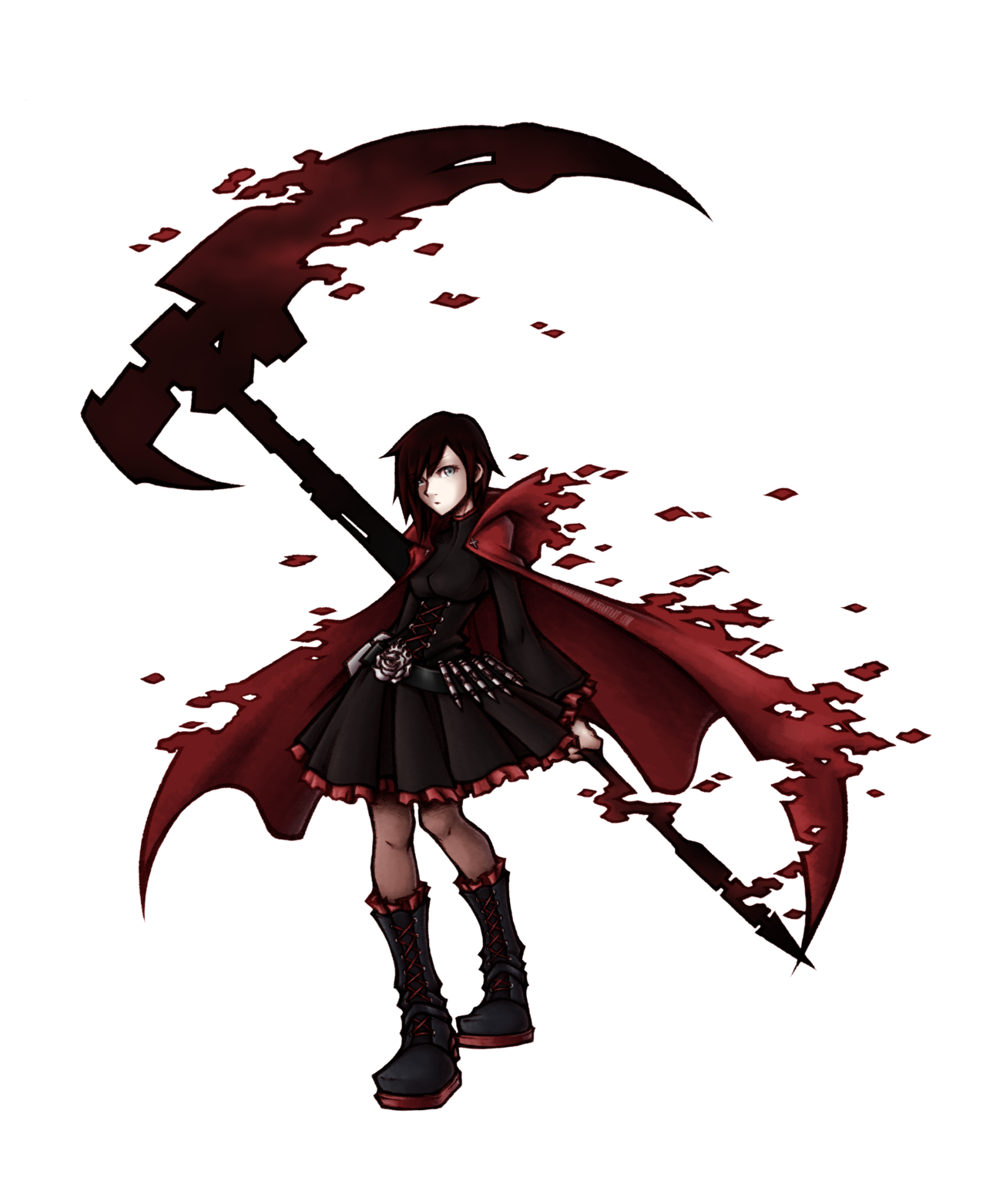 Ruby transparent rwby. Image rose by isaiahjordan