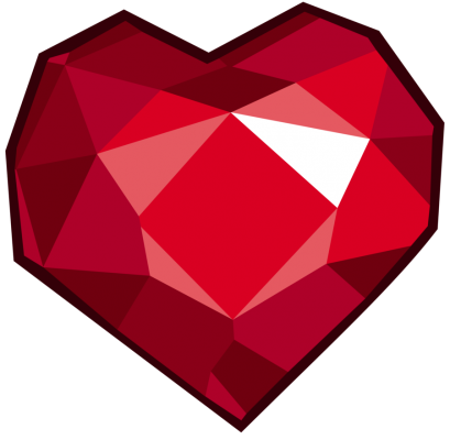 Ruby transparent treated. Png