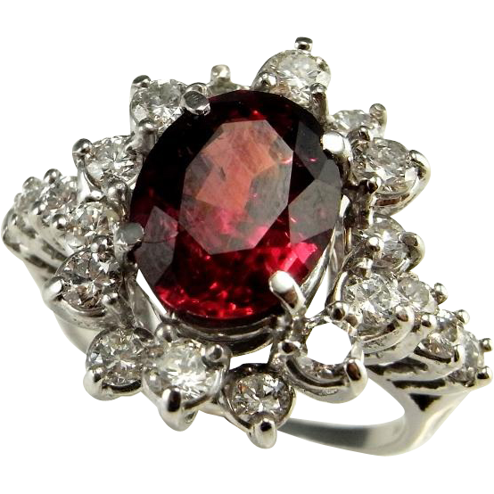 Ruby transparent unheated. Rare large big engagement