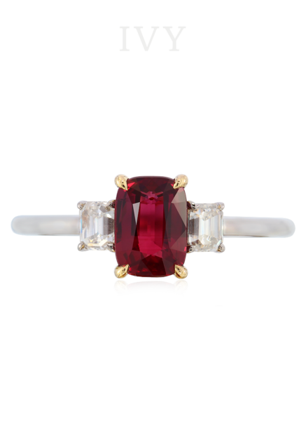 Ruby transparent unheated. And diamond ring ivy