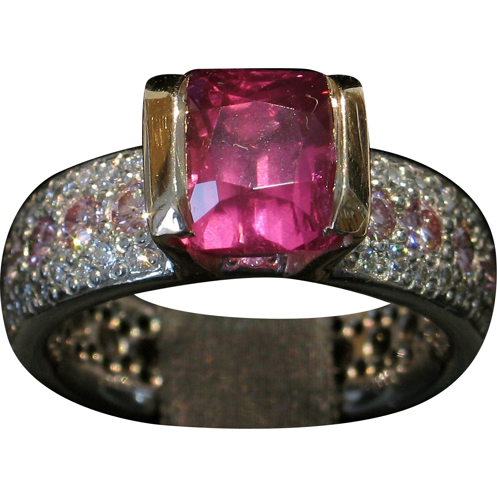 Ruby transparent unheated. Brilliant rare and pink