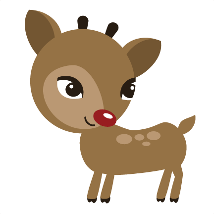 Rudolf nose png. Reindeer svg file for