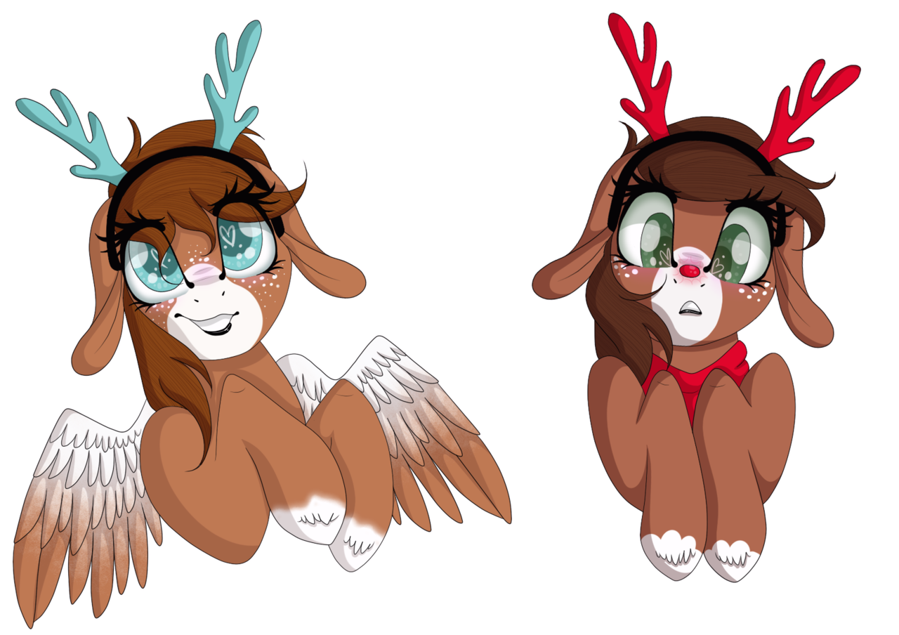 Rudolph antlers png. Artist autumnheart female
