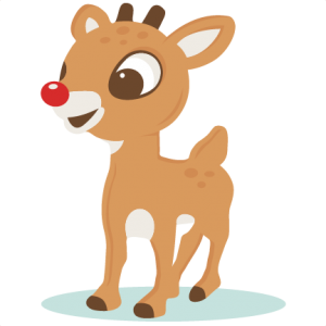 Rudolph vector kawaii. Free reindeer noses cliparts