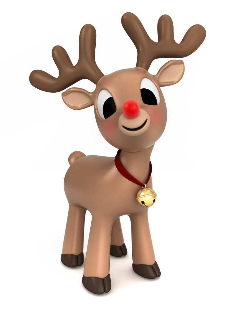 Rudolph clipart adorable. The red nosed reindeer