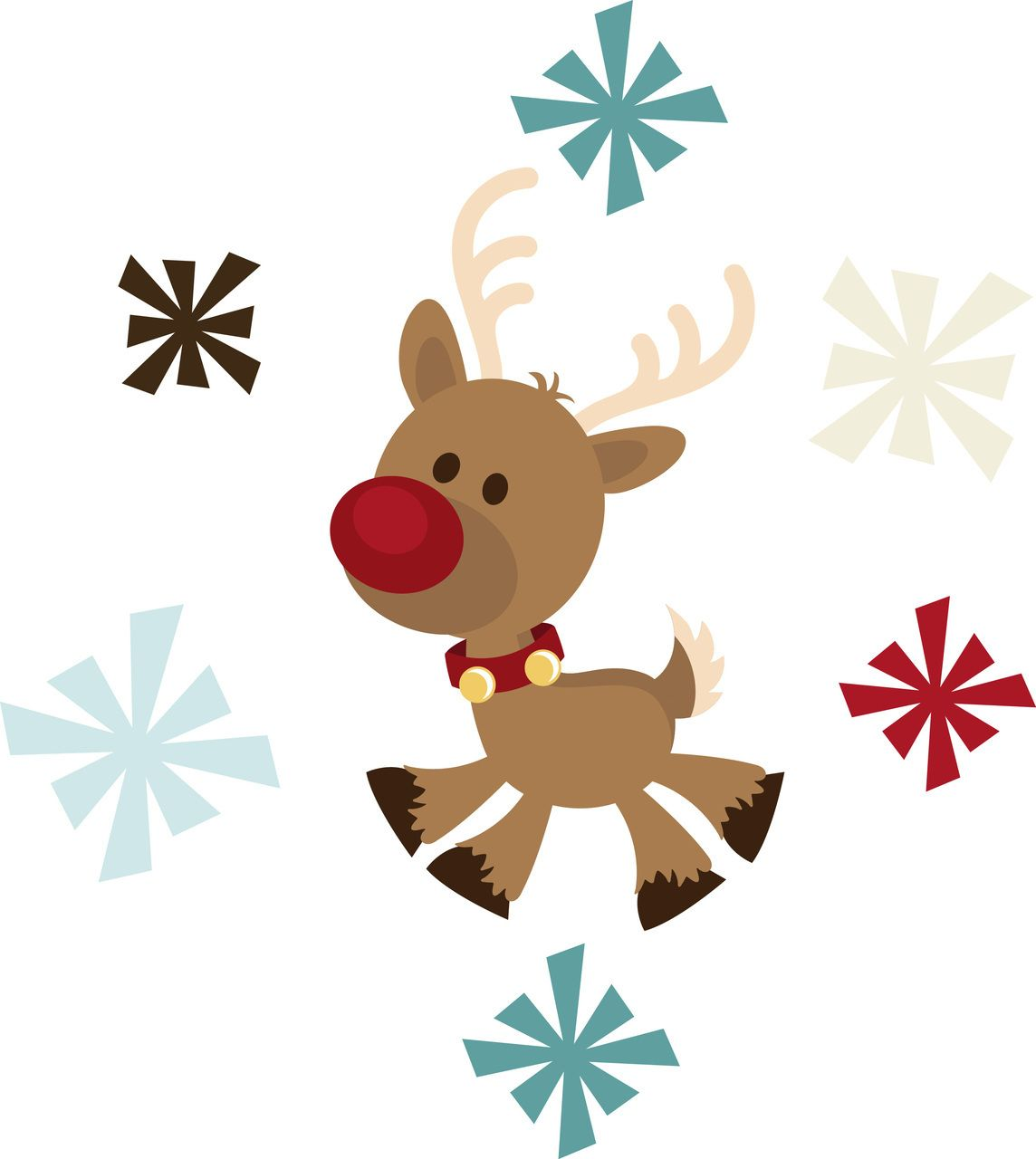 Rudolph clipart baby. Ppbn designs flying off