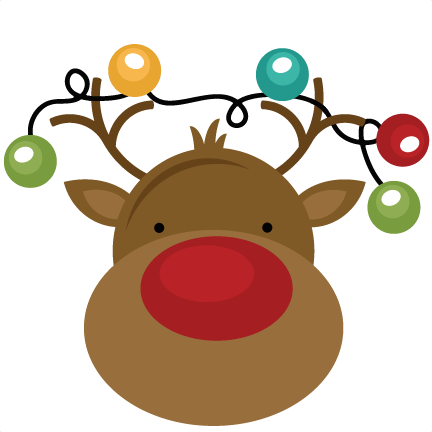 Christmas clipart cute. Free funny reindeer cliparts