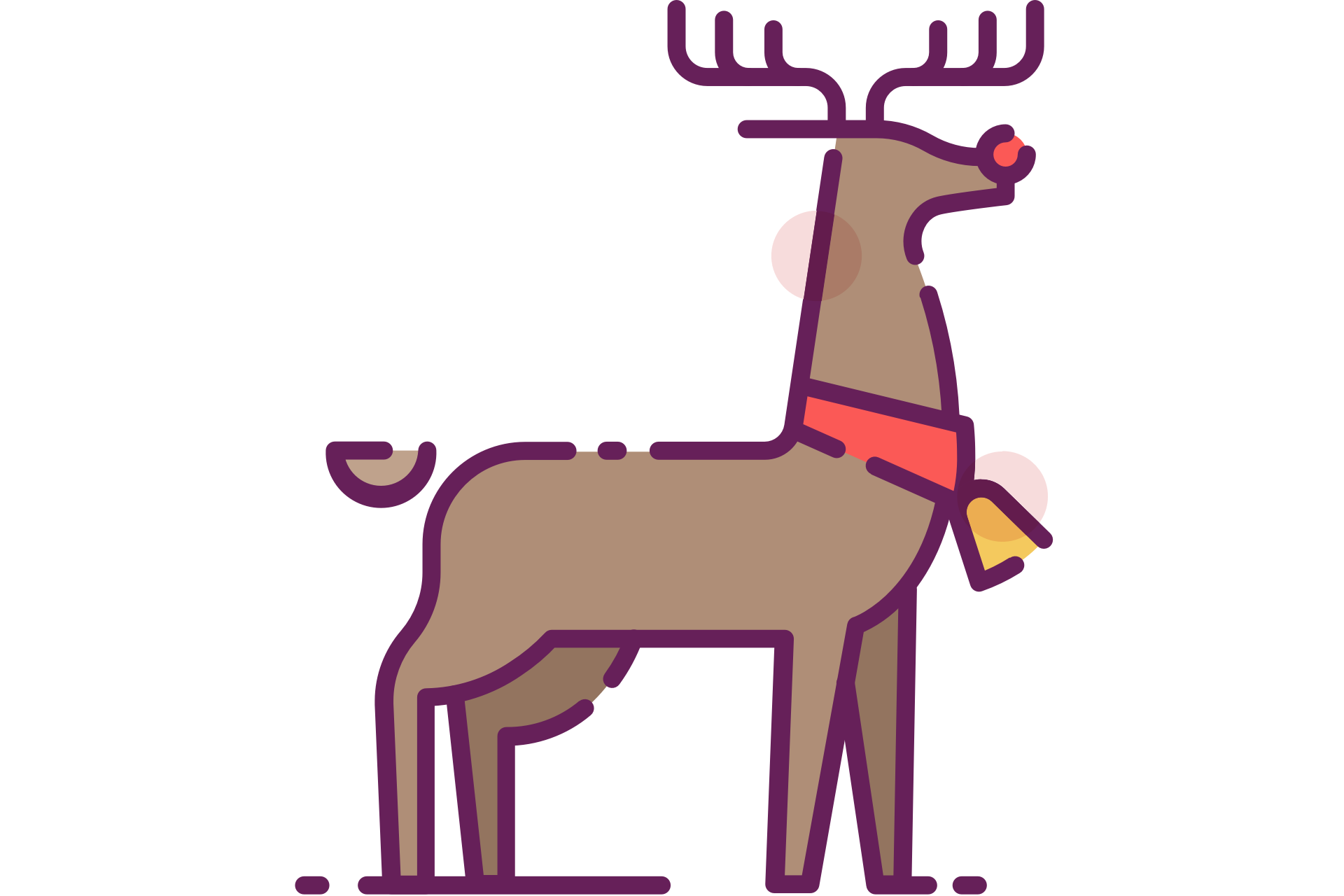Rudolph clipart baby. Reindeer with red nose
