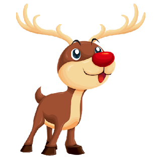 Rudolph clipart baby. Christmas images cutechristmasrudolf cutechristmasrudolfwithdecorationshangingfromhorns