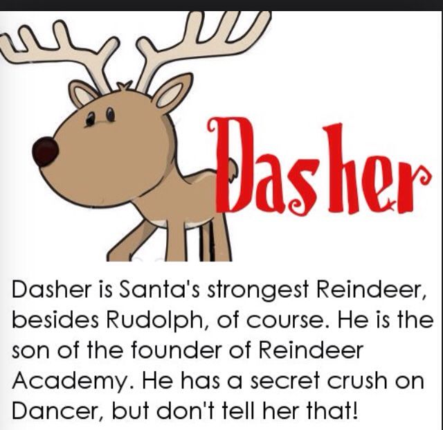 Rudolph clipart dasher. The best rednosed reindeer