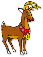 Rudolph clipart dasher. Free reindeer graphics animations