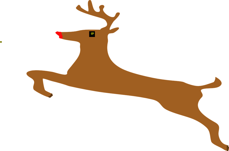 Rudolph clipart drunk. Free photo jumping animal