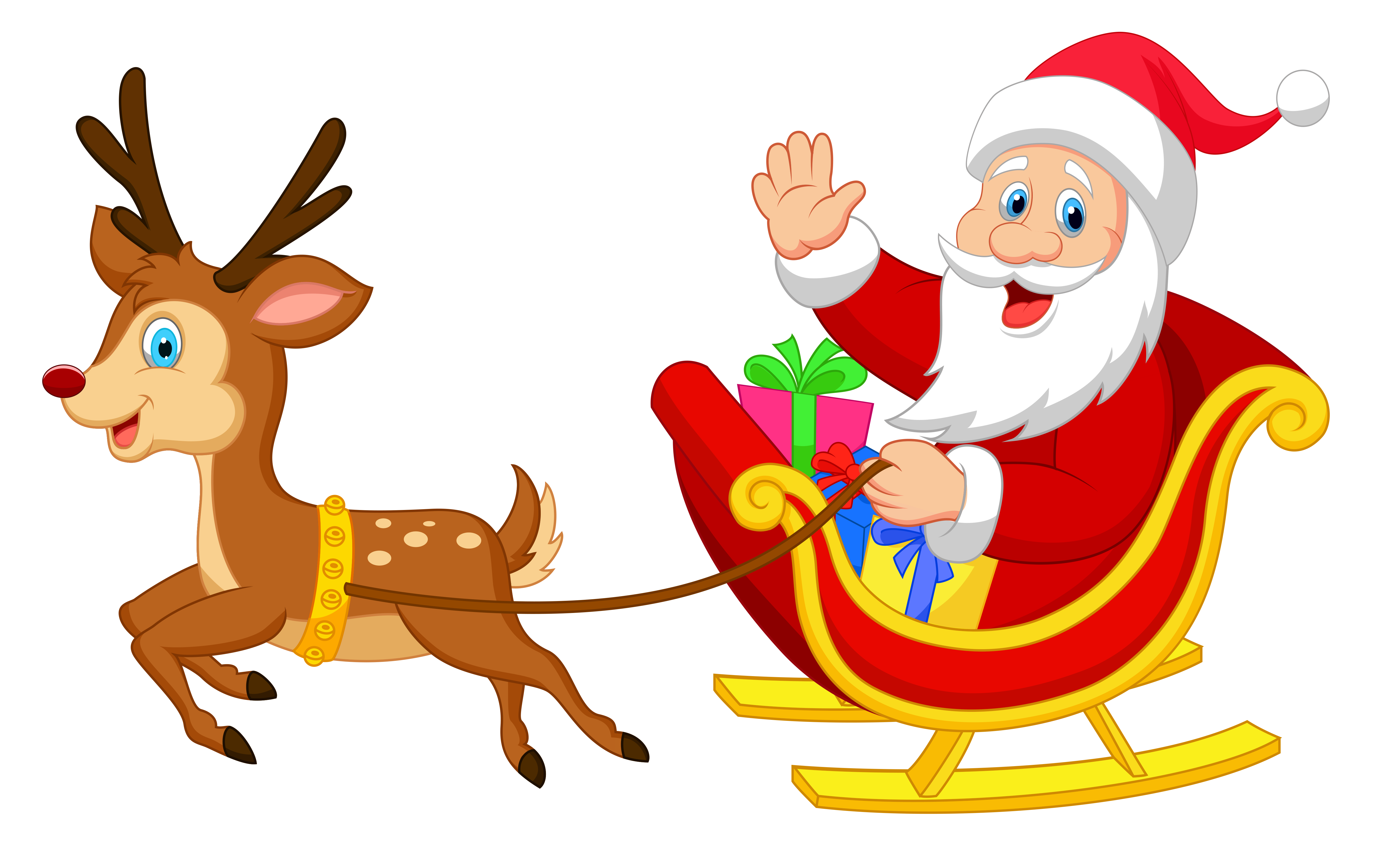 Santa reindeer png. And rudolph clipart at