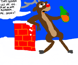 Rudolph clipart drunk. S red nosed reindeer