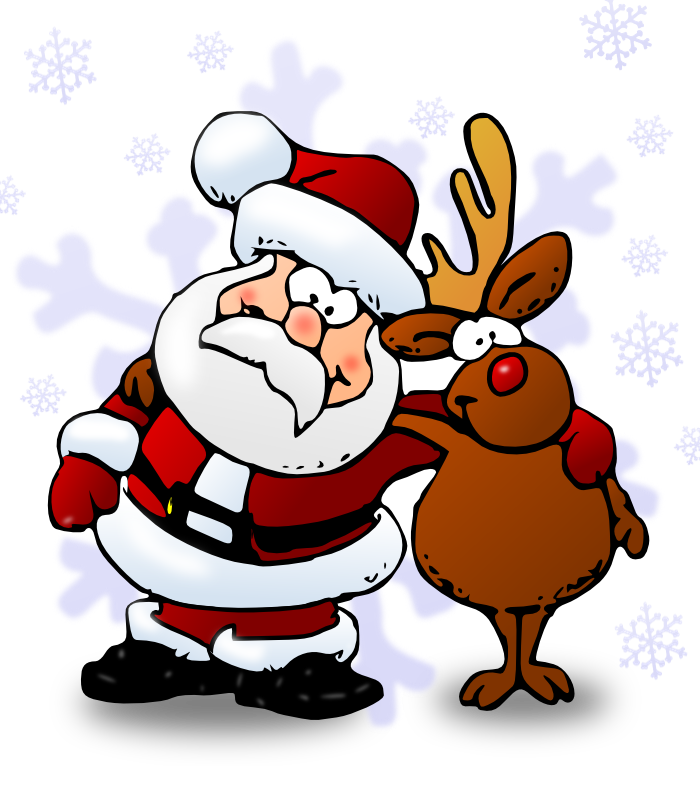 Rudolph clipart elf. Free santa and pictures