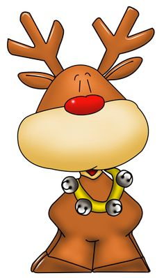 Rudolph clipart fat. Funny santa and reindeer